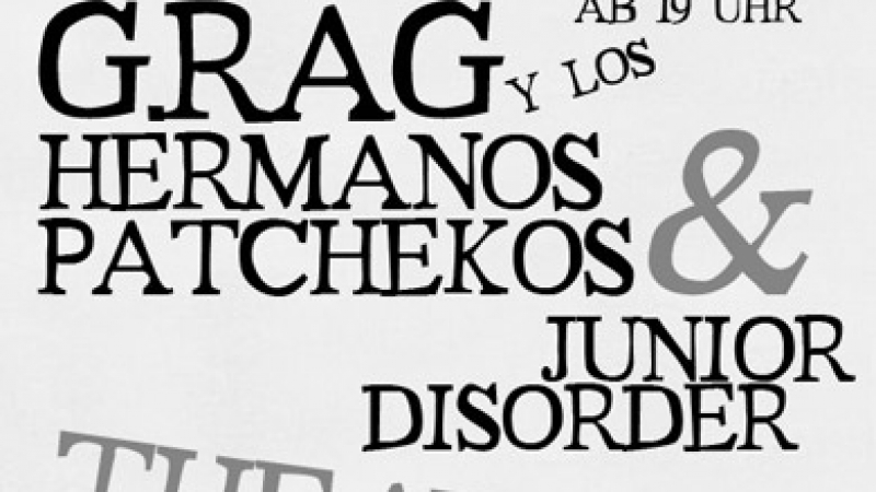 G.Rag y los Hermanos Patchekos & Junior Disorder, Theatron, 2008