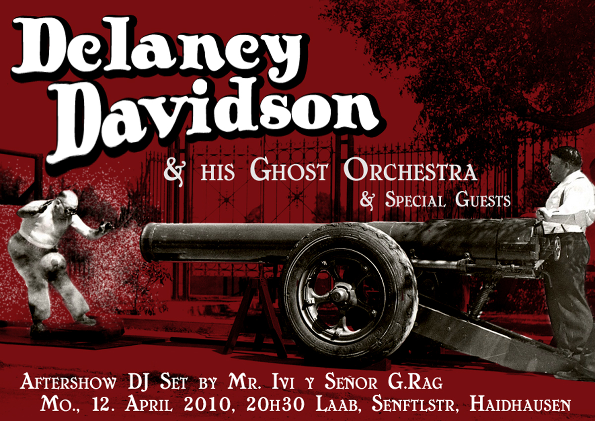 Flyer: Delaney Davidson, Laab, 2010
