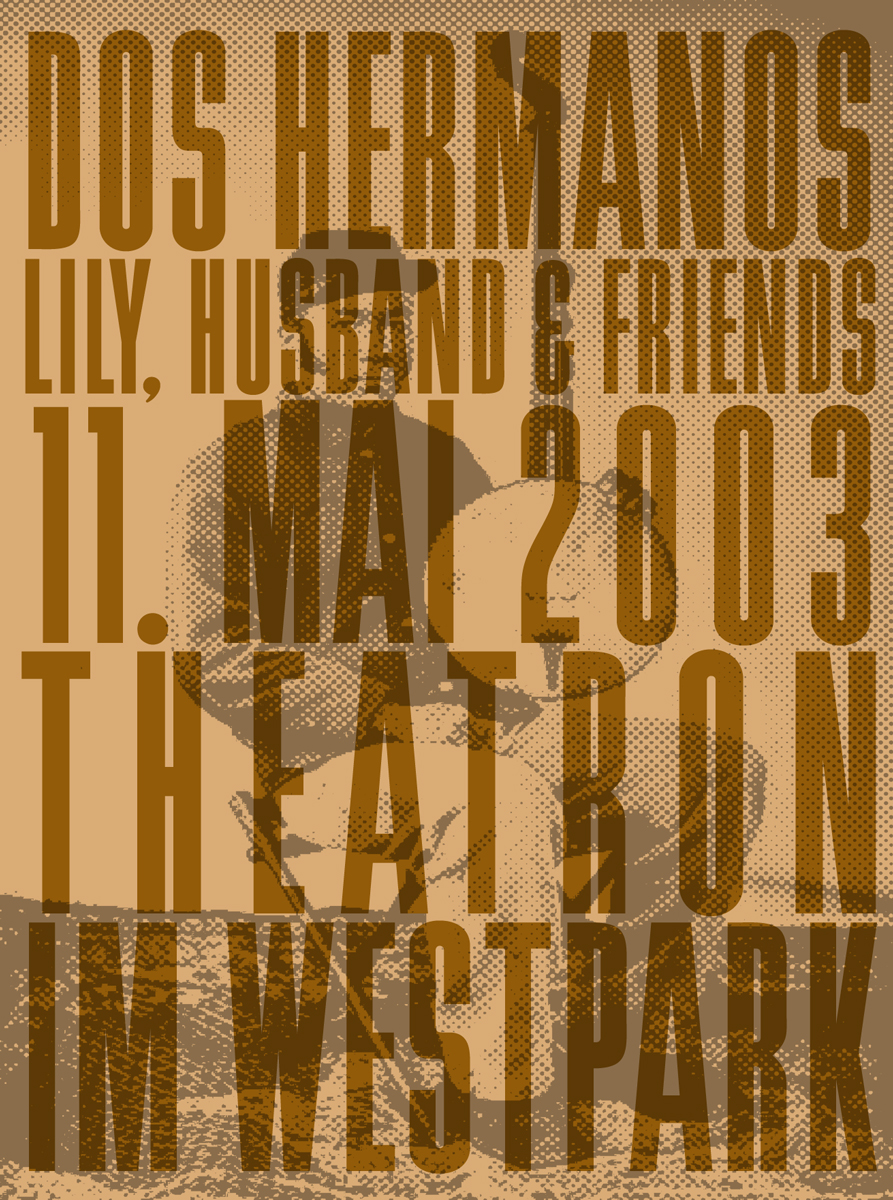 Flyer: Dos Hermanos + Lily, Husband & Friends, Westpark, 2003