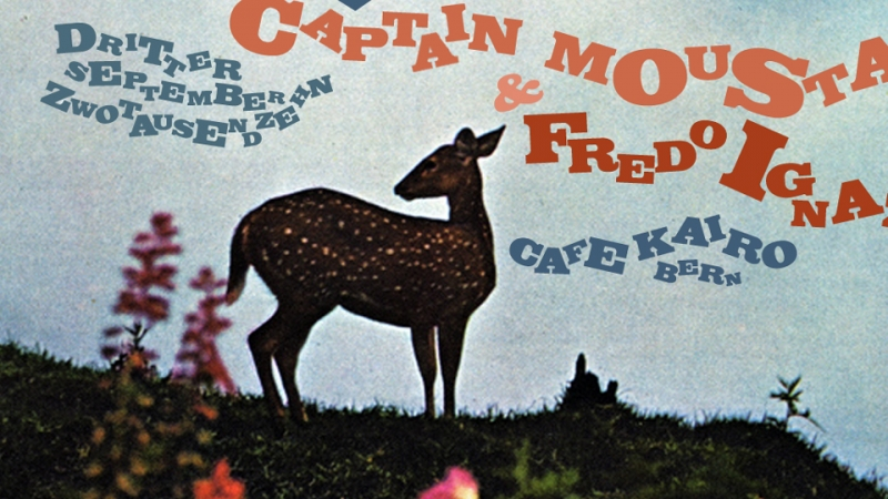 Flyer: Dos Hermanos vs. Captain Moustache & Fred Ignazio, Bern, 2010