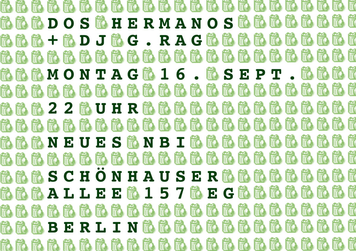 Flyer: Dos Hermanos, Berlin, 2002