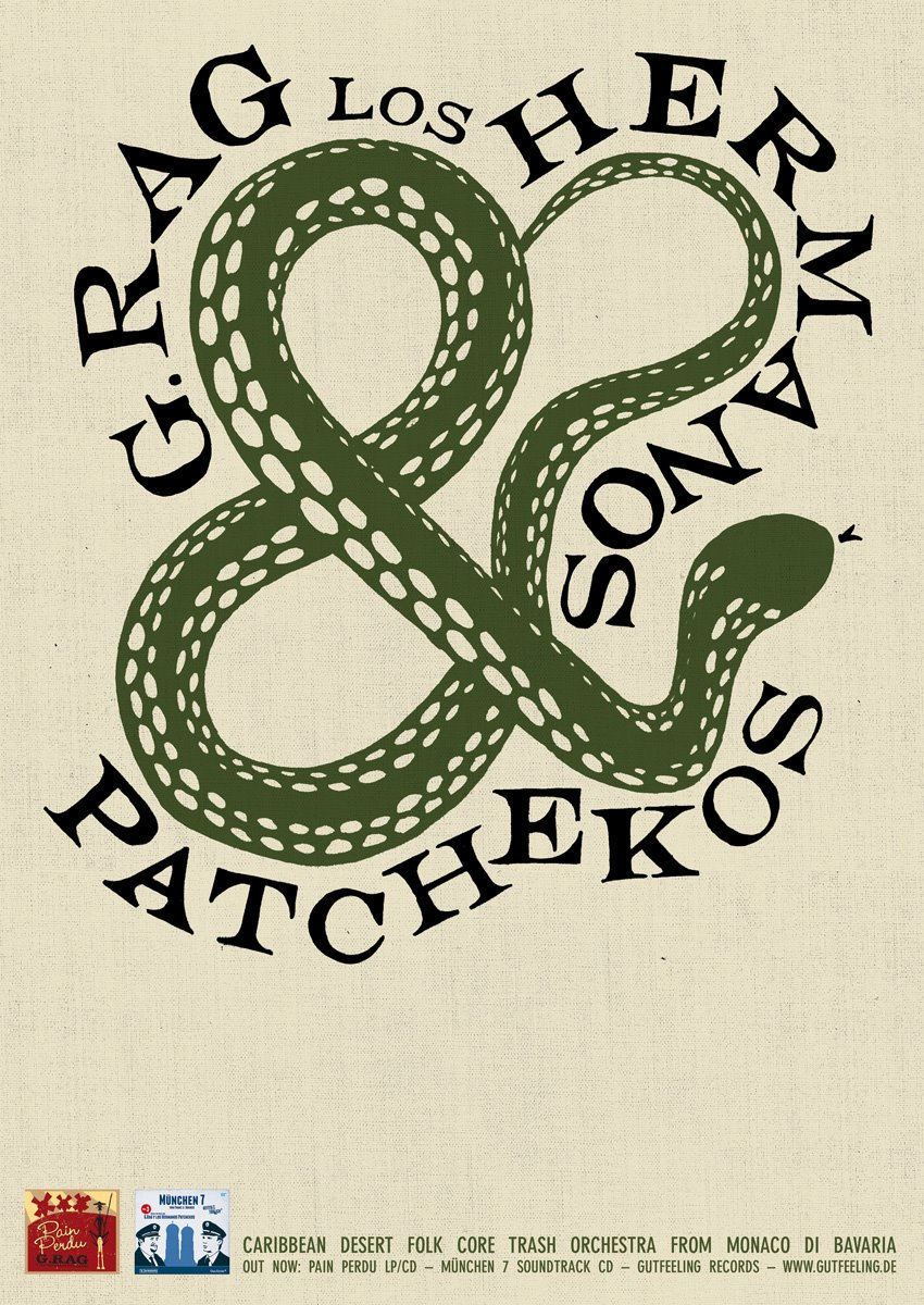It's a ... snake!  Das Patcheko-Tour-Plakat 2012