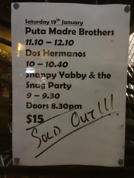 Dos Hermanos in Melbourne - Northcote Social Club