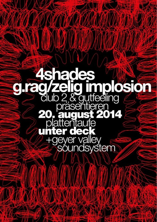 Plattentaufe 4shades & g.rag / zelig implosion. 20. August 2014. Unter Deck