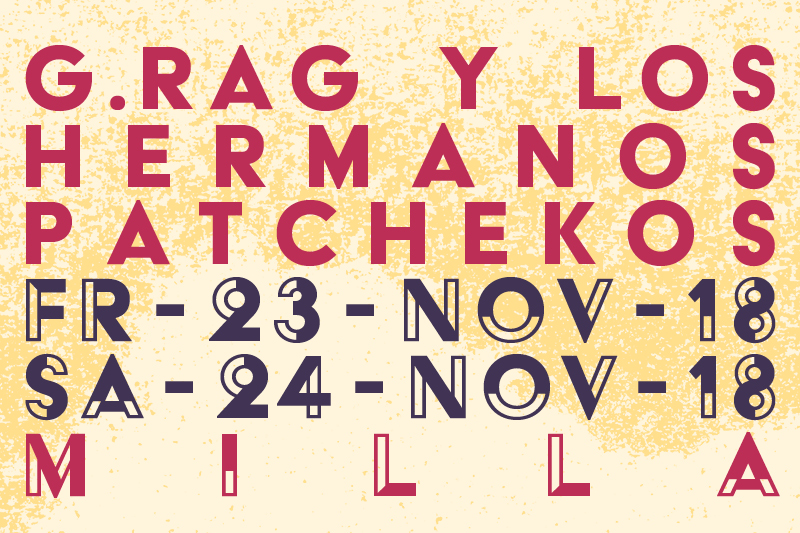 23. und 24. November: Patcheko Weekender in der Milla 2